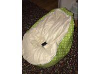 Baby green spotty beanbag