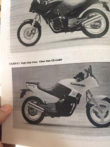 1986 1987 Kawasaki Ninja GPZ 250R Service Manual  Regina Regina Area image 3