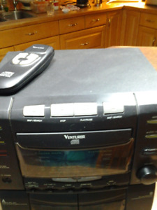 VENTURA COMPACT COMBO CD/CASSETTE PLAYER. SPEAKER NOT INCLUDED