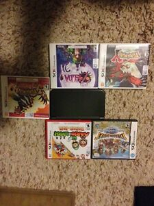 3dsxl with 5 games and charger