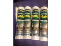 6 tubes of white instant nails