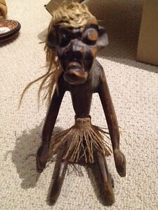 Wood Sitting Tiki from Indonesia