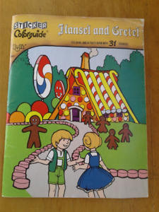 Hansel and Gretel Sticker/Coloring book vintage