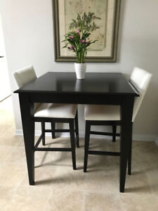 Canadel Solid Wood Counter Height Table and Stools