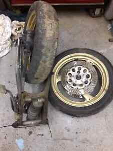2000 gsxr front rear wheel swing arm and brakes