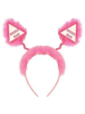 Ladies Hen Party Pink Bridesmaid Head Boppers