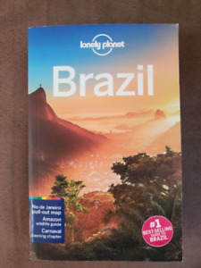 BRAZIL Lonely Planet Guidebook & National Geographic Map