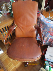Antique Fine Leather Executive Chair