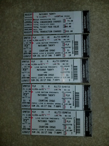 Matchbox Twenty & Counting Crows 4X FLOOR tickets FACE VALUE