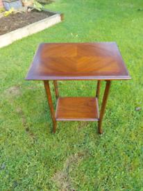 Beautiful antique mahogany table with striking natural grain