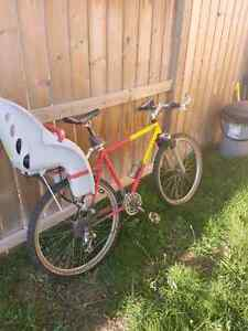 Men's mountain bike with baby seat