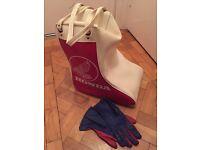 Honda boot bag and racing gloves