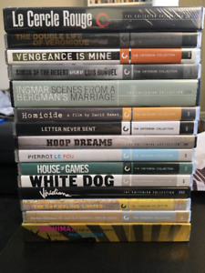 Criterion Collection DVD Movie Lot - 12 Films