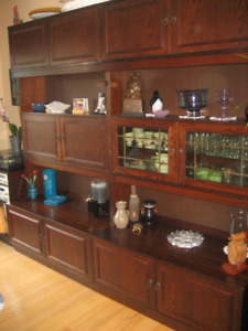 Wall unit with lots of sheving