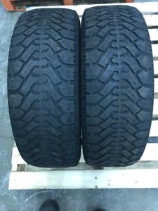 2 - 195 60R 15 Goodyear Nordic Winter Tires - $40 for both