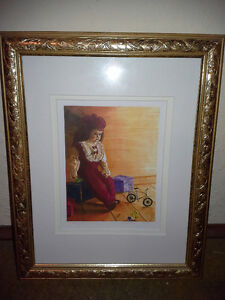 "FRAMED LIMITED EDITION PRINT ""WAITING"""