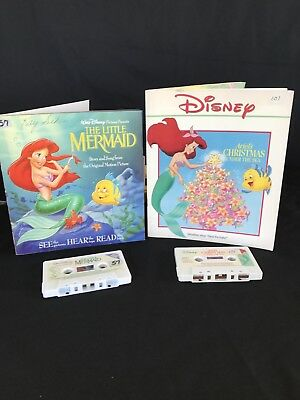 The Little Mermaid Flounder Christmas Disney Read Along & Recording Tape Lot 2 (Little Mermaid Recorder)