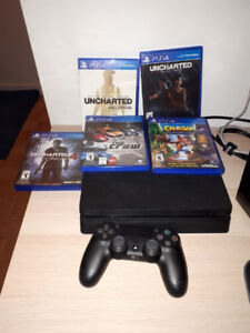 I'm selling my PS4 uncharted edition for 290$ along with 5 games