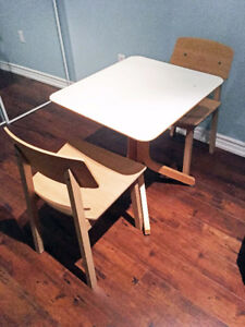 Breakfast Table/ Studying Table with two chairs. $75 OBO.