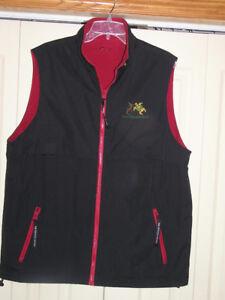 Men's Reversible Black Red Vest Size Medium Like New