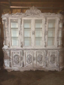 REDUCED! Multipurpose Chalk painted  *1of a kind* 2Pc Cabinet..