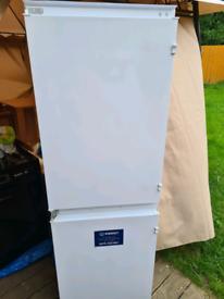 Indesit integral fridge freezer white
