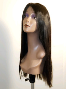 Flat wig on scalp hand crafted most natural looking human wig