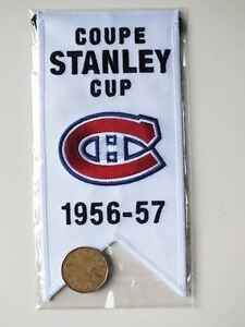 CENTENNIAL STANLEY CUP 1956-57 BANNER MONTREAL CANADIENS HABS Gatineau Ottawa / Gatineau Area image 2