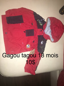 Demenagement Beau Manteau printemp gagou tagou 18 mois 10$