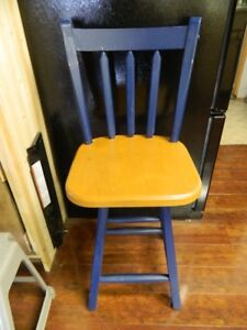 A HIGH BACK BAR STOOL