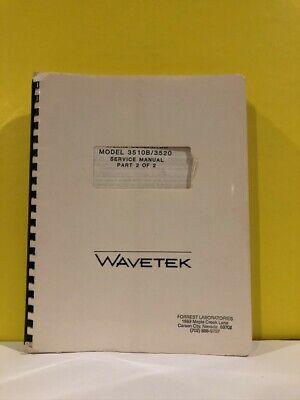 Wavetek Signal Generator Model 3510b3520 Service Manual