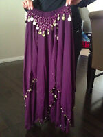 Purple Belly Dancing Skirt - One Size