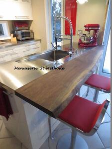 comptoir en bois et table en bois à vendre West Island Greater Montréal image 9