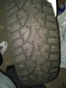 4 General Altimax Artic Winter Tires on Rims