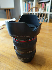 Canon EF 24-105mm F/4L IS USM Lens Mint condition