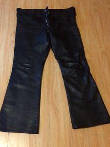 Leather pants   Boots   One piece rain suit