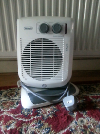 Good condition portable fan and hearter.