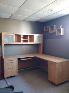 Gently used computer desk and hutch