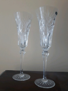 Brand new crystal champagne glasses