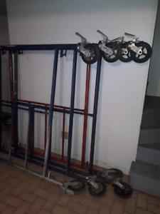 Équipement 2 cage d'échaffaud complète avec roulette et frein