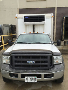 2005 Ford V8 5 ton with 16' refrigerated box + roll up door