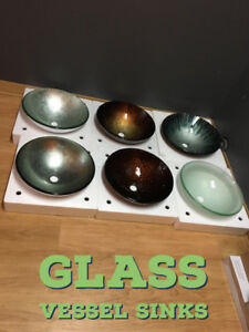 GLASS VESSEL SINK VANITY SINK TALL FAUCET WATERFALL FAUCETS TAPS
