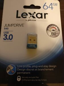 Lexar 64 gb 3.0 jumpdrive 2 x 16 gb 3.0 jumpdrive all brand new