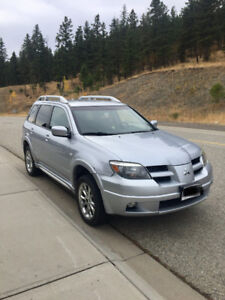 2006 Mitsubishi Outlander with new winter tires.