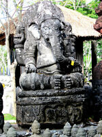 LORD GANESHA Statue. Amazing LAVA-STONE from BALI! Open house!!!