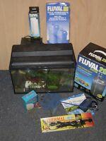 Aquarium avec pompe et accessoire