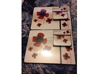 Placemats and coaster sets x 2