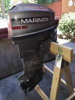 Mariner 20 hp short shaft tiller outboard boat motor