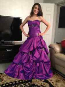 Diamond Edition Plum/Orchid Graduation Dress