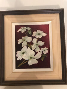 Oil Painting of Dogwood Flowers